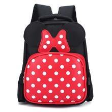Impermeable de la Historieta de minnie mouse mochilas/niños bebé bolsas mochilas para niños/cabrito mochilas escolares bolsa de hombro para los niños y niñas