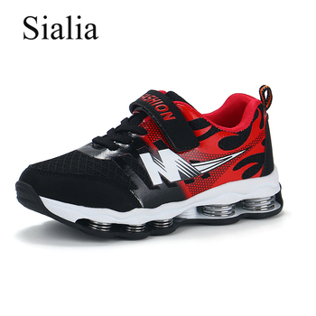 Sialia Springs Kids Shoes Boys Sneakers For Girls Casual Shoes Breathable Mesh Patchwork Hook&Loop Sport Running Children Shoes