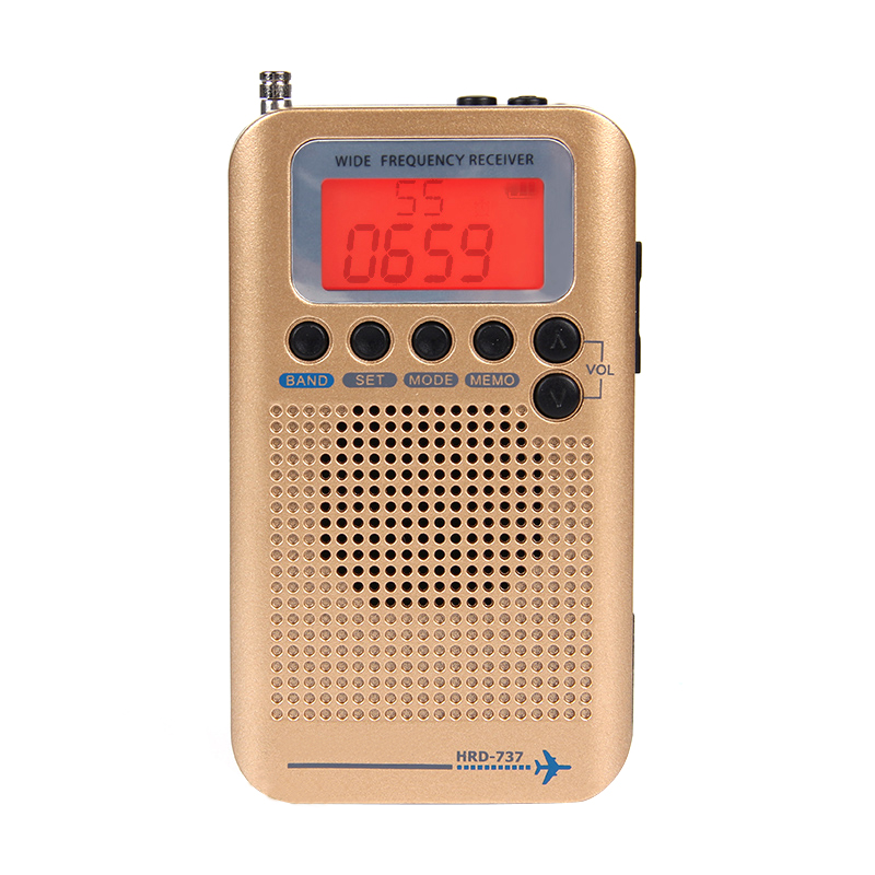 Tragbares Audio & Video Volle Band Radio Digital Demodulator Fm/am/sw/cb/air/vhf Welt Band Stereo Tragbare Radio Mit Lcd Display Alarm Uhr