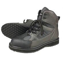 Pêche à la mouche cuissardes de chasse bottes en amont chaussures de pêche en feutre semelle antiglissante armée vert cuir chaussures à lacets pour hommes FR1