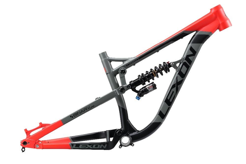 2017 Newest LEXON D860 AL6061 Mountain Bicycle Frame/DNM Rear Shock 26