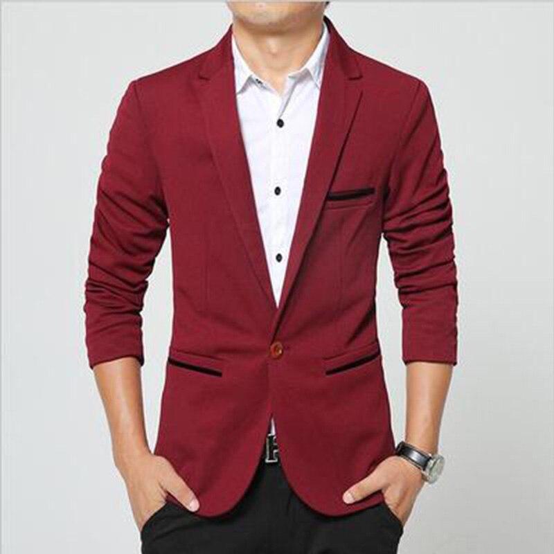 2017 Neue Marke Frühling Männliche Blazer Männer Fashion Slim Fit Anzug Männer Casual Einfarbigen Anzug Blazer Männliche Kleidung Waren Des TäGlichen Bedarfs