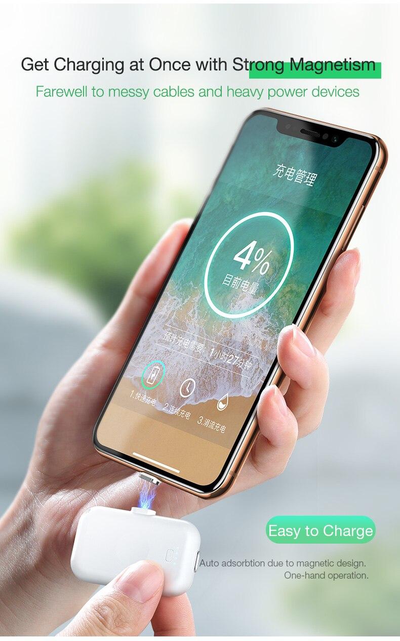 Cafele магнитный беспроводной внешний аккумулятор для iPhone Xiaomi 9 huawei мини внешний аккумулятор Micro usb type C внешний аккумулятор портативное зарядное устройство