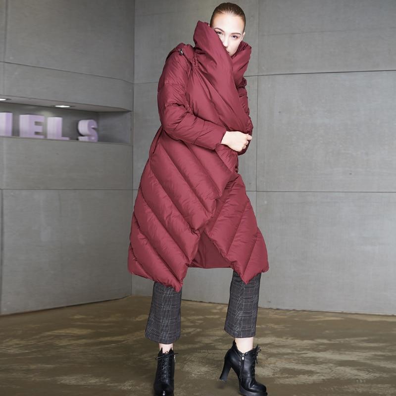 Parka Longue D'hiver Mode Hiver De Noir Femme Manteaux Femmes Grande Taille Chapeaux Capuche rouge Deux Manteau Veste À Yvyvlolo 2018 Chaude wC0qpp