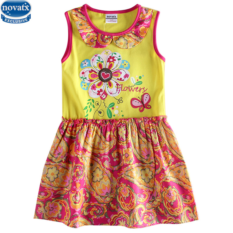 retail kids children summer sleeveless floral butterfly girl dress nova kids wear party dress 2016 baby girl new clothing kids clothes 2016 summer style short sleeve printded lotila floral girl dress nova kids baby girl cloting child wear dress