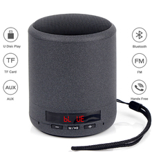 лучшая цена Mini Bluetooth Speaker Portable Wireless Column Bass Sound Stereo Subwoofer FM Radio Handsfree TF Card USB MP3 Player For Phone