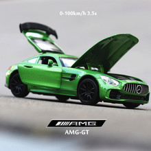 1:32 diecast car model Benz GTR AMG sports car alloy model sound light pull back car perfume seat decoration boy toy car gift 1 24 luxury car model giulia alloy car static model sports car collector s edition model color box package boy toys gifts
