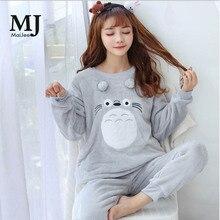 MJ038A  Flannel Kigurumi Pyjamas Winter Pink Pizama Damska Pijama Feminino De Animal Thick Pyjama Femme Pijamas Women