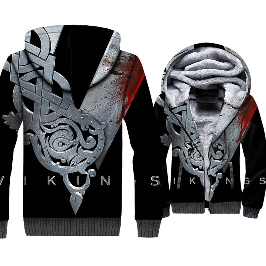 VIKINGS 3D vestes nouvelle mode Streetwear Hoodies pour hommes 2018 automne hiver Hip Hop hommes Sweatshirts Viking Harajuku Hoddies