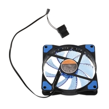 120mm PC Computer 16dB Ultra Silent 33 LEDs Case Fan Heatsink Cooler Cooling with Anti-Vibration Rubber,12CM Fan,12VDC 3P IDE цена и фото