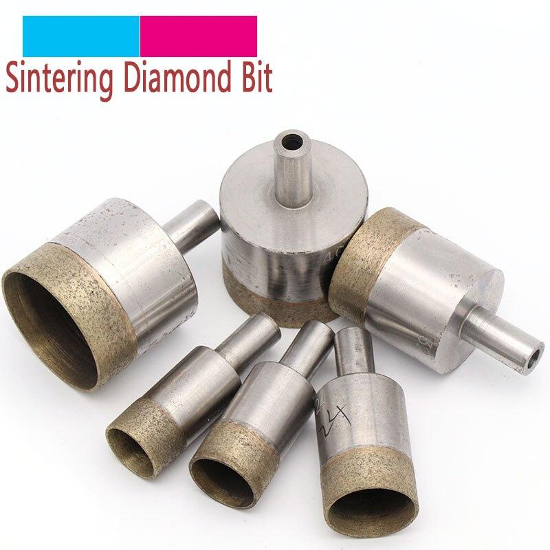 1pc haste 10mm sinterizado diamante núcleo brocas 4-45mm buraco reto viu furadeira de bancada para vidro pedra cerâmica mármore jade plástico