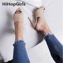 HiHopGirls 2018 New Summer Women Roman Sandals Sexy Tip Mueller Shoes Open