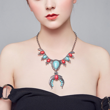 New Tibetan jewelry fashion classic folk style womens Necklace Turquoise wholesale Bohemia  women gift