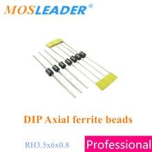 موسليدر 2000 قطعة RH 3.5x6x0.8 DIP الفريت الخرز المحوري الفريت الخرز المغناطيسي المحرز في الصين جودة عالية