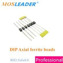 Mosleader 2000 sztuk RH 3.5x6x0.8 DIP ferrytowe koraliki osiowe ferrytowe koraliki magnetyczne wykonane w chinach wysokiej jakości