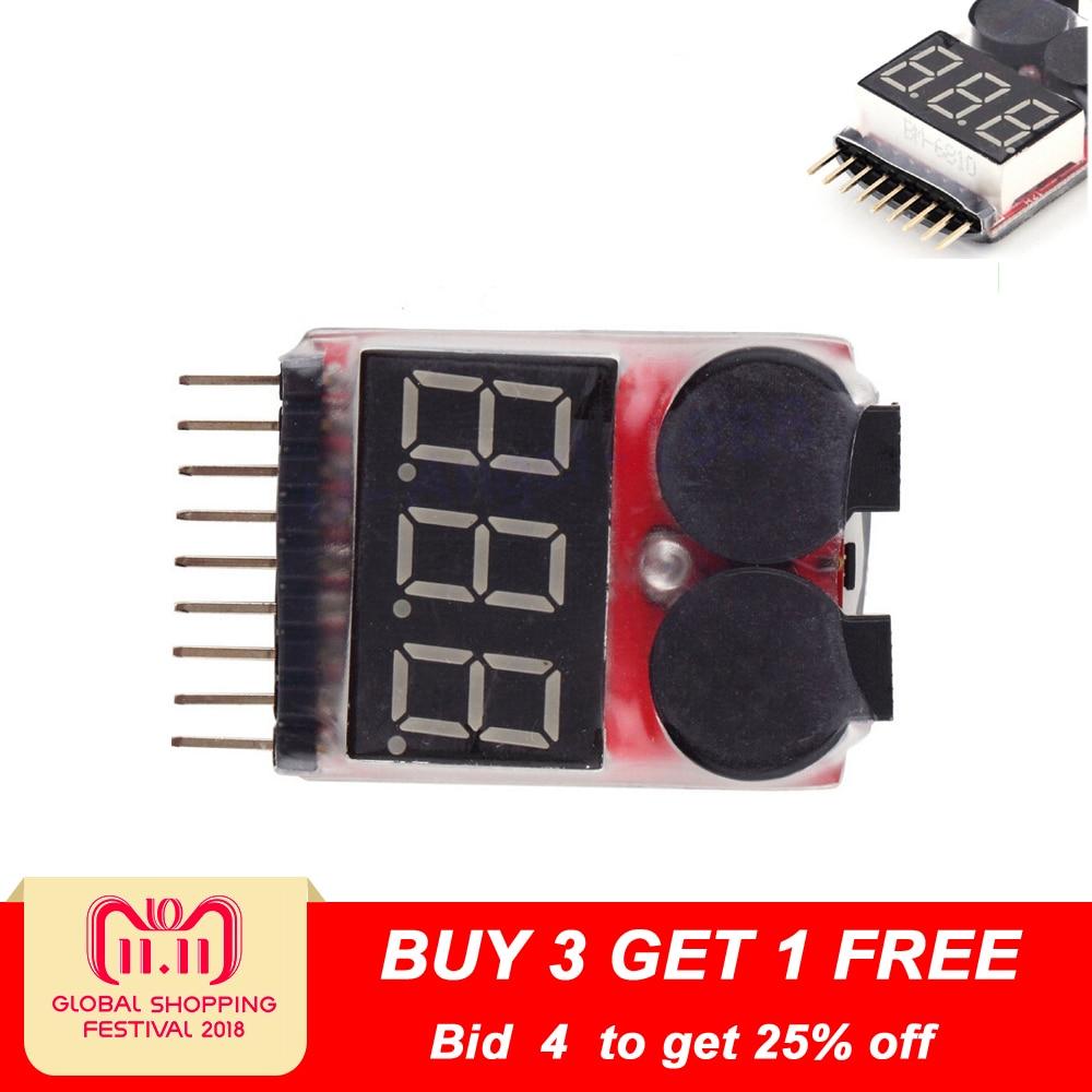 1pcs 1-8S LED Low Voltage Buzzer Alarm Lipo Voltage Indicator Checker Tester 1pcs hot sell 2s 2s 3s 4s 5s 6s 7s 8s 1 8s led low voltage buzzer alarm lipo voltage indicator checker tester wholesale dropship