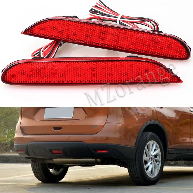 2 Pcs LED Rear Bumper Reflectors Lights font b lamps b font For Nissan Leaf Pathfinder