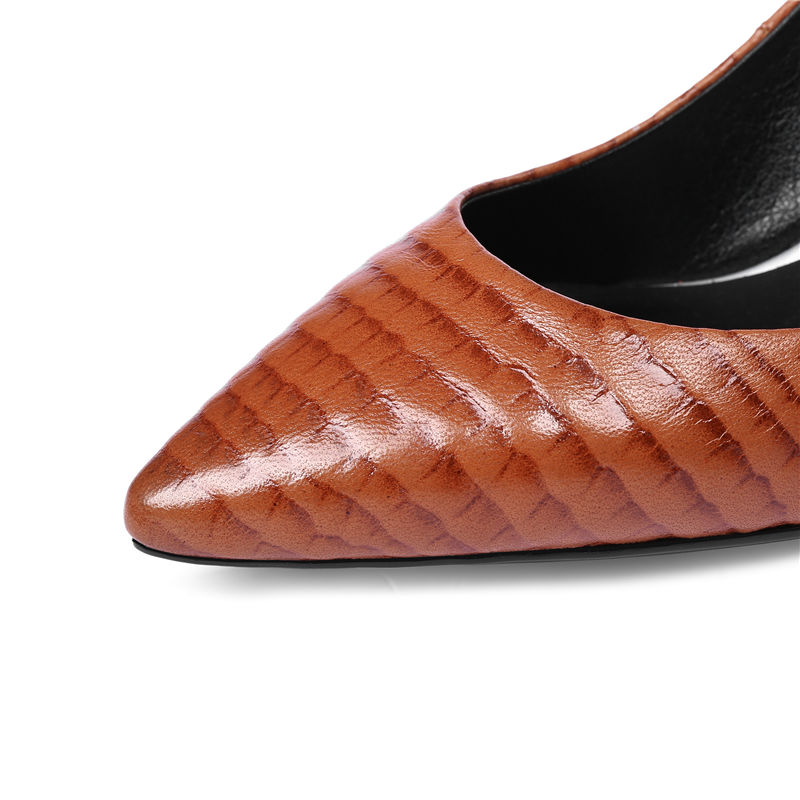 BONJOMARISA 2018 Primavera Otoño Nueva Llegada de Calidad de Cuero - Zapatos de mujer - foto 5