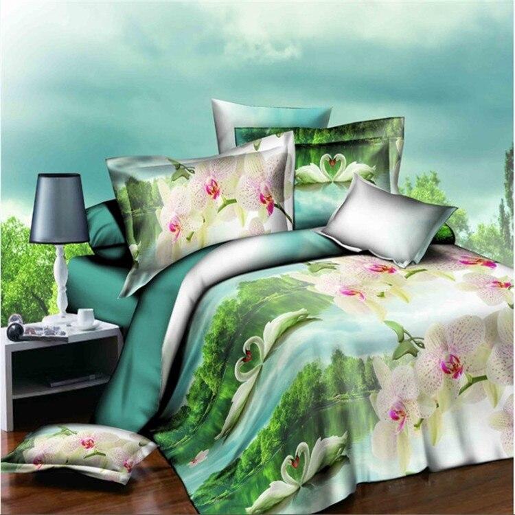 Housse de couette Crisantemo juego de cama, textiles para el Hogar 4 unid, conju
