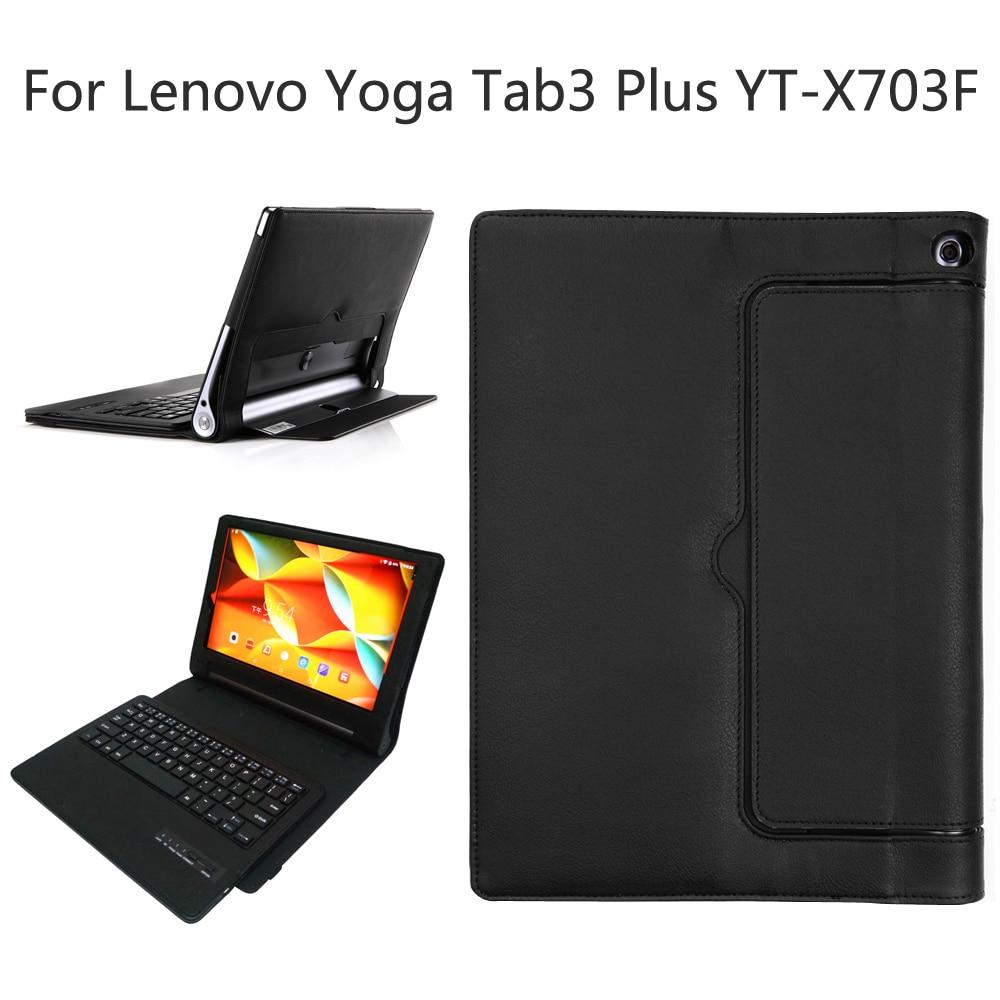 Pour Lenovo Yoga Tab 3 Plus TAB3 Plus YT-X703F/X703L 10.1 pouce Détachable Bluetooth Clavier Portefeuille PU Étui En Cuir couverture