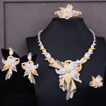 GODKI Famous Brand Charms Lariat Choker Luxury Statement Dubai Jewelry Sets For Women CZ Zircon Wedding Bridal Jewelry Sets 2019 2