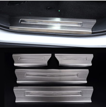 цена на Stainless Steel Interior Door Sill Scuff Plate For Land Rover Range Rover Sport 2014-2016 Auto Accessories 4Pcs/set