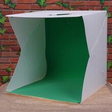 40 см lightbox Портативный складной Софтбоксы мини Аксессуары для фотостудий свет box Фон фотографии встроенный световой Комплекты для фотостудии l3fe