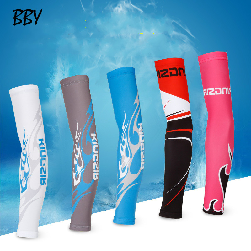10 Colors Outdoor Arm Sleeves 2Pcs/Pair Breathable Arm Warmers UV Protection Unisex Cycling Arm Sleeves R463
