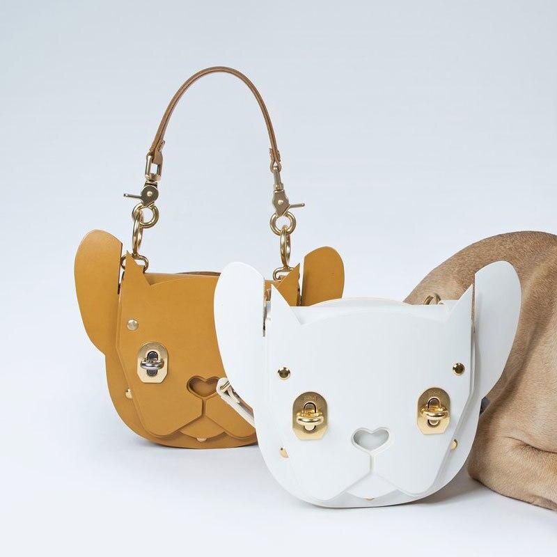 DAEYOTEN nouvelle mode femmes sac Rivet serrure sac à bandoulière forme animale sac à main mignon chien fourre-tout sacs de luxe concepteur sacs à main ZM0238A - 4