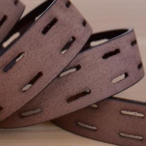 Image 5 - Ceintures en cuir véritable pour hommes, sangle de marque avec boucle ardillon, fantaisie, Vintage, Jeans de Cowboy, 100%