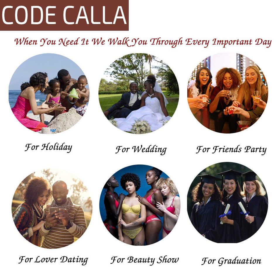 Code Calla Brazilian 100% Unprocessed Raw Virgin Human Hair Extension Afro Kinky Straight Weave bundles Natural Black Color