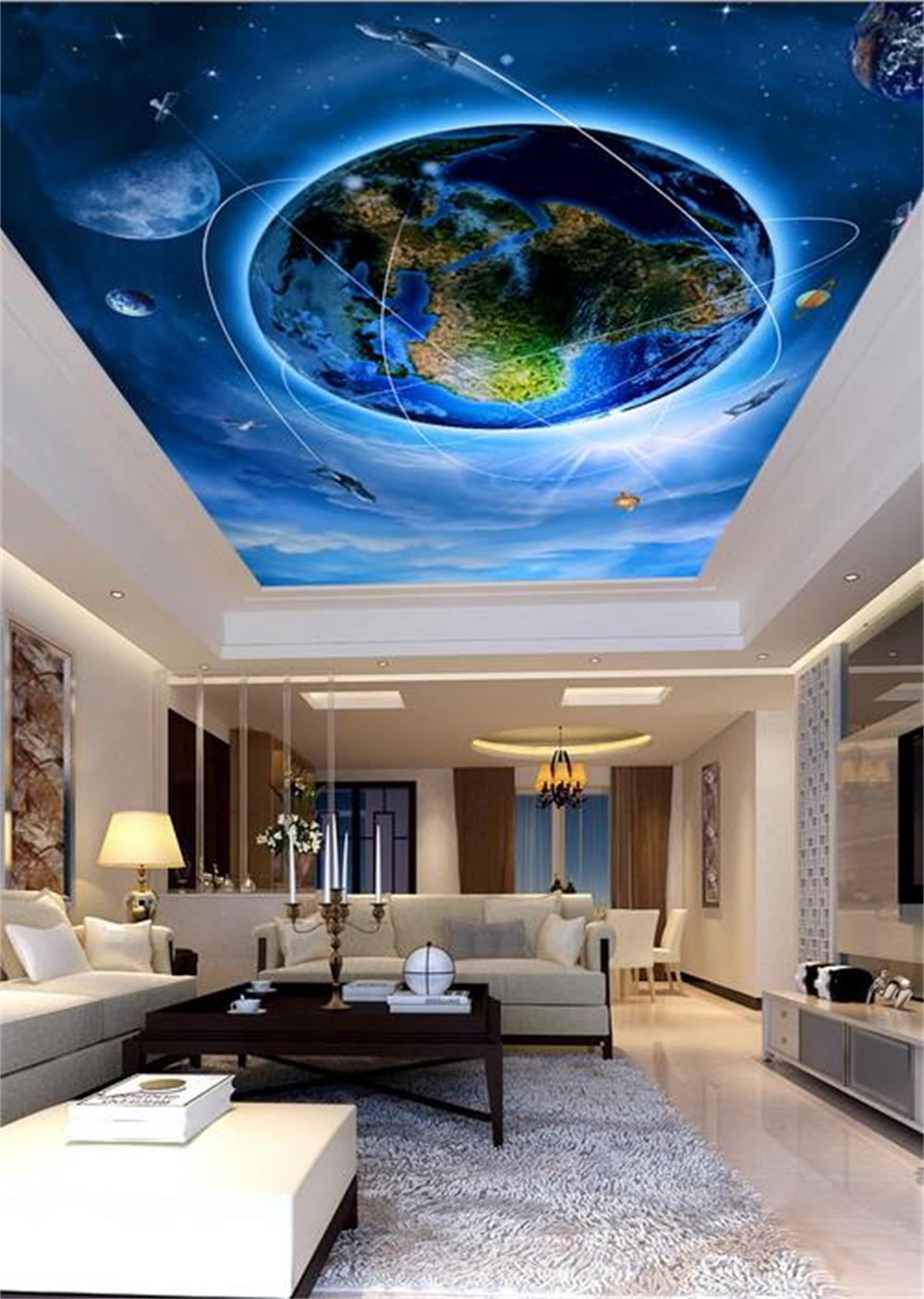 3D wallpaper ceiling/custom photo wall paper/Only beautiful earth design/Bedroom/KTV/Hotel/bar/living room/Children room d d imperio d imperio flea market treasure paper only