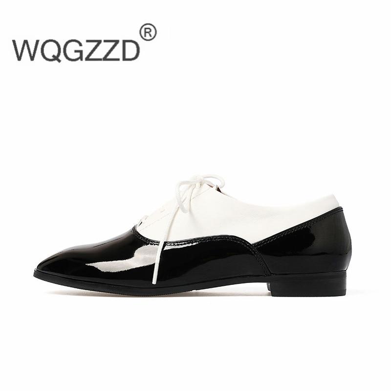 Color Chaussure Pictures Genuino As Scarpe Femme Oxford Donne Formato 2019 39 In Delle 34 Appartamenti Pelle Donna zwZqcaF