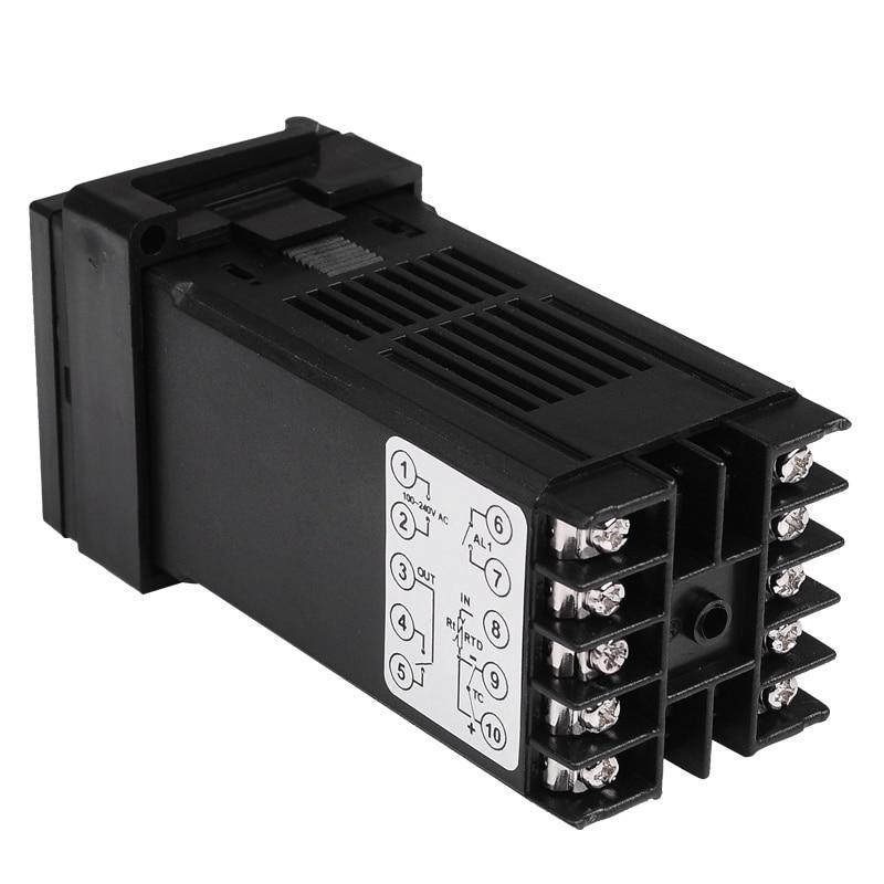 48 * 48 mm-es digitális hőmérséklet-szabályozó termosztát K / - Mérőműszerek - Fénykép 6