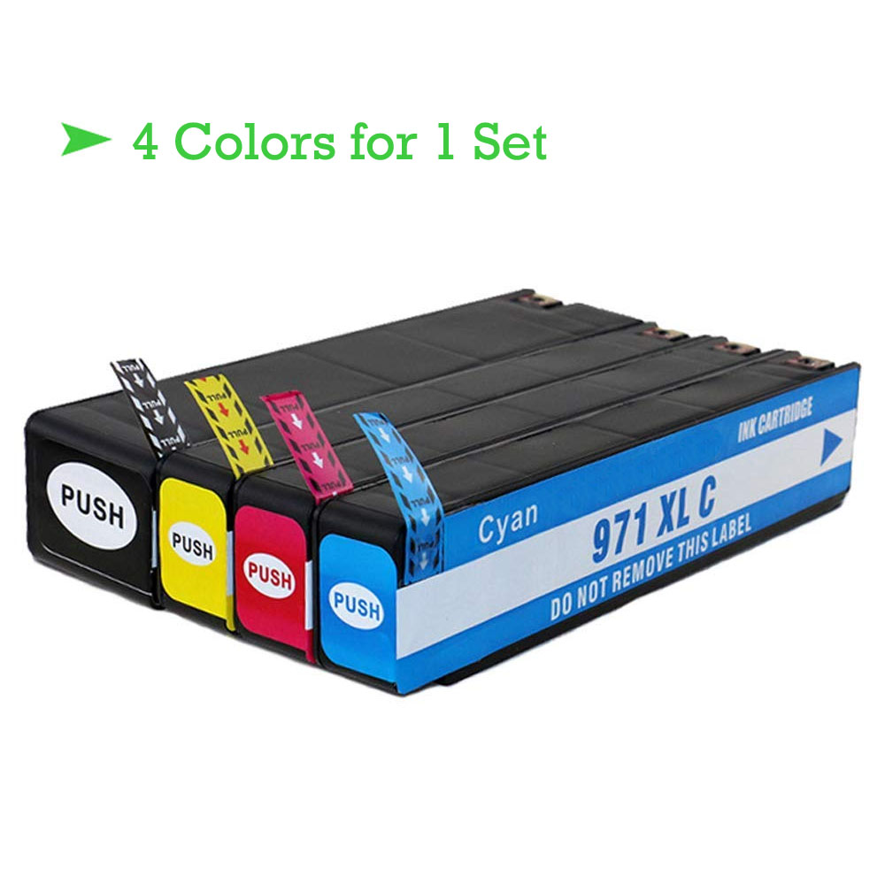 Refillable Ink Cartridges compatible for HP 970XL 971xl for X551dw X576dw