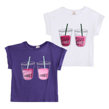Hot Baby Kids Boys Girls Cartoon Soda Drink font b Tees b font Tops T shirt