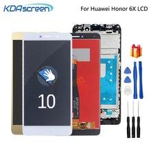 Huawei 社名誉 6X Lcd ディスプレイ BLN L24 BLN AL10 BLN L21 BLN L22 タッチスクリーンデジタイザ GR5 2017 ディスプレイフレーム