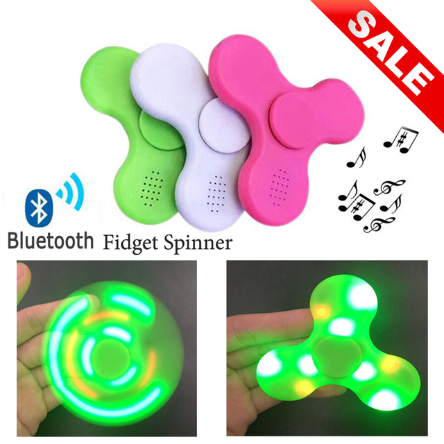 Luminous Mic Figet Spinner Wireless Spiner Bluetooth Speaker With Microphone Handsfree Bluetooth for phone xiomi LED hand spiner