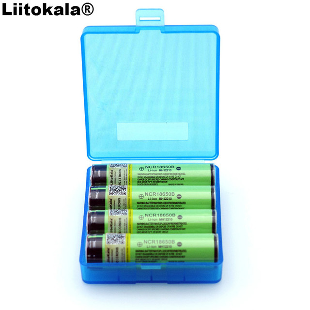 4 PCS 2019 Liitokala מקורי 18650 3.7 V 3400 mah NCR18650B Lthium סוללה הגנת לוח מתאים עבור פנס סוללה