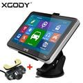 XGODY 704 7 pulgadas Bluetooth Del Carro Del Coche de Navegación GPS Navigator FM AV-IN Sat Nav + Wireless Cámara de Visión Trasera 2015 Mapas de Europa