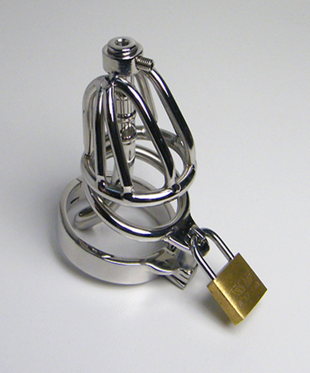 Male Sex Toys Penis Cock Cage With Metal Catheter,Stainless Steel Chastity Device,Fetish Adult Products For Men - AJ31I sex products for men penis stainless steel cock cage chastity belts key lock fetish master ball cage sex toys