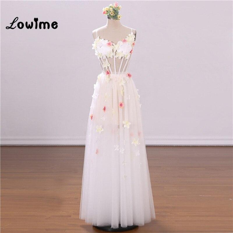 White Flower Prom Dresses Vestidos De Graduacion Sweetheart Illusion Party Dress For Weddings Abiti Da Cerimonia Donna 2018 Gown