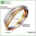 (10 pieces/lot) Fashion 316l stainless steel bracelets in 3 colors women carter bracelets bangles WW0113