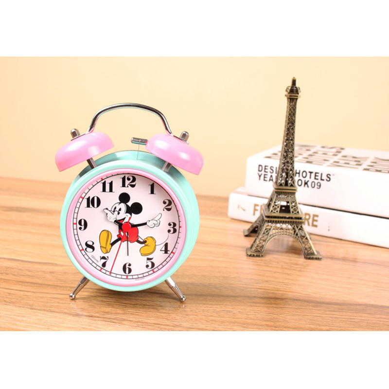 Bedroom Alarm Clocks Metal Making New Fashion Personalized Creative Children Alarm Mute Cartoon Bedside Students Luminous Clock