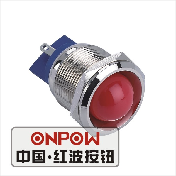 8mm Mounting Brass Indicator LED Switch Multicolor  3V//6V//12V//24V//110V UL