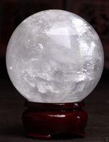 Healing Sphere magic decoration Fine gift 860 100mm + Stand Natural White Calcite Quartz Crystal Sphere Ball Healing Gem stone