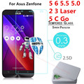 Screen Protector Film 0.3mm 9H 25D Front Premium Tempered Glass For Asus Zenfone 5 6 2 3 Laser 5.5 5.0 5 C Go