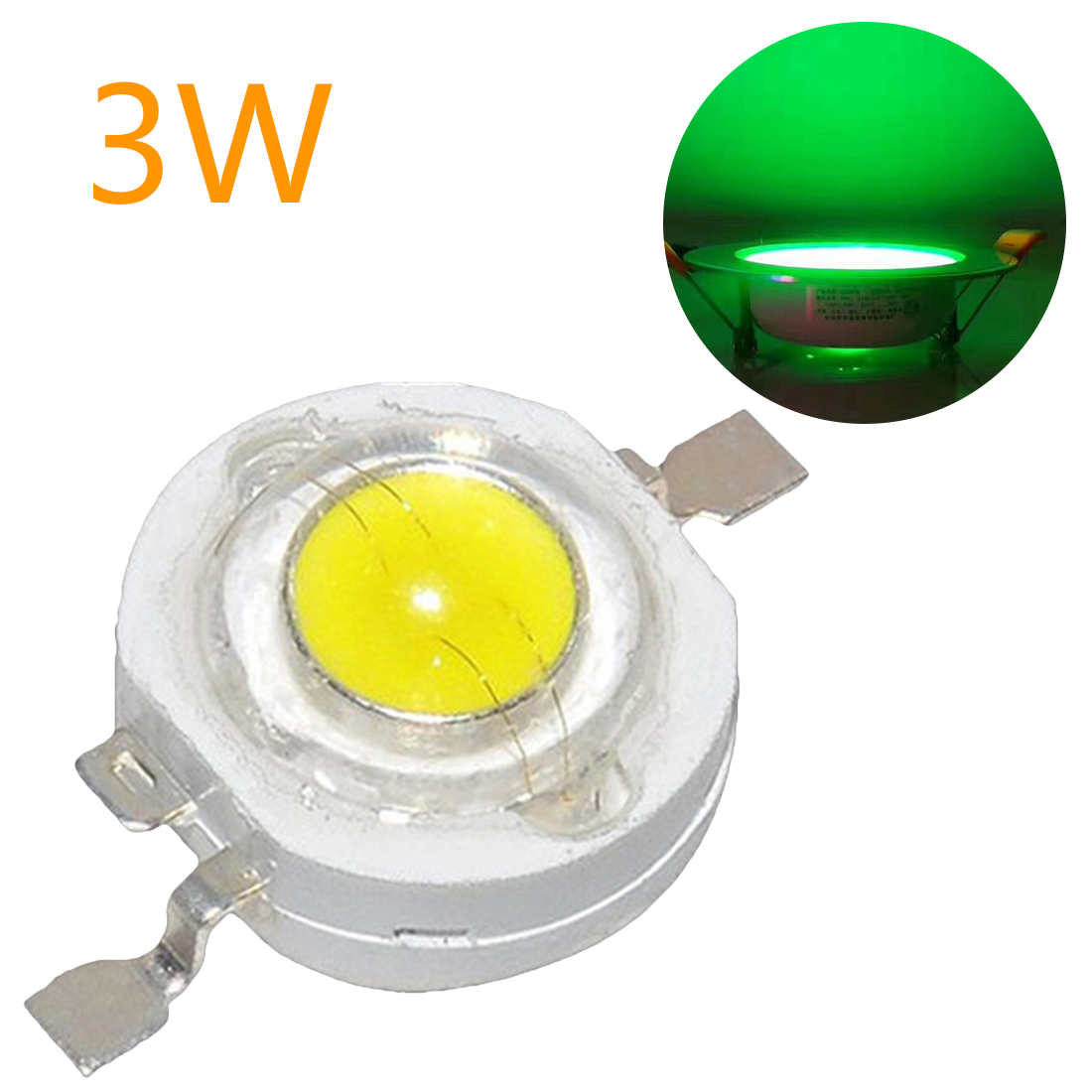 1W-3W Real Full Watt High Power LED Lamp Bulb Diodes SMD 110-120LM LEDs Chip For 3W - 18W Spot Light Downlight