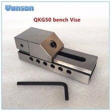 QKG50 плоский нос прецизионные тиски для поверхностного шлифования, фрезерный станок, edm машина, высокая точность 0,005 мм/100 мм