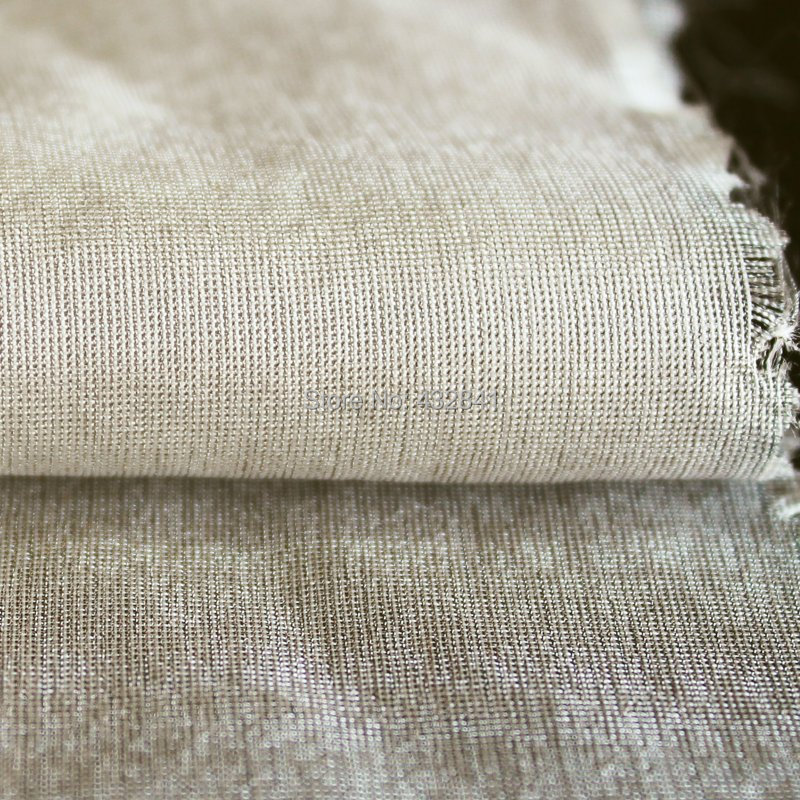 Mubbery шелк с серебристым волокном радиационной ткани серебро 66 #